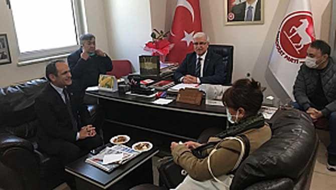 Sakarya CHP'den, DP'ye ziyaret