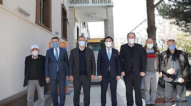 Vali Kaldırım Pamukova İlçesini Ziyaret Ederek Koronavirüs Toplantısına Başkanlık Etti