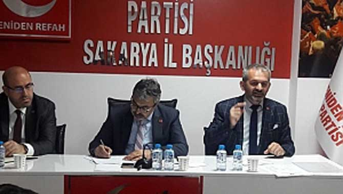 Yeniden Refah Partisi Mart Ayı İl Divan Toplantısını Yaptı