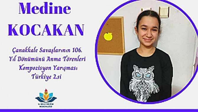 Çanakkale Kompozisyonuyla Türkiye 2.si Oldu