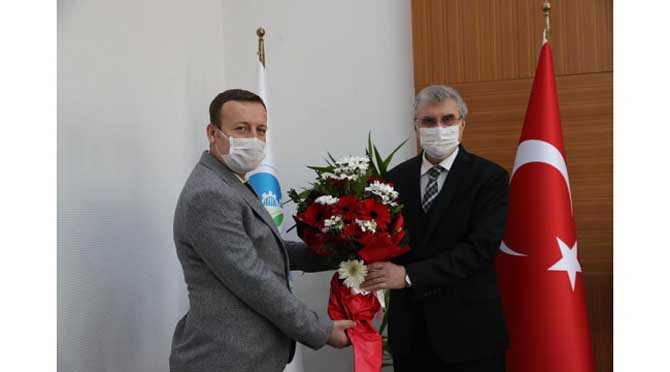 Öz Sağlık-Sen'den Başkan Yüce'ye ziyaret