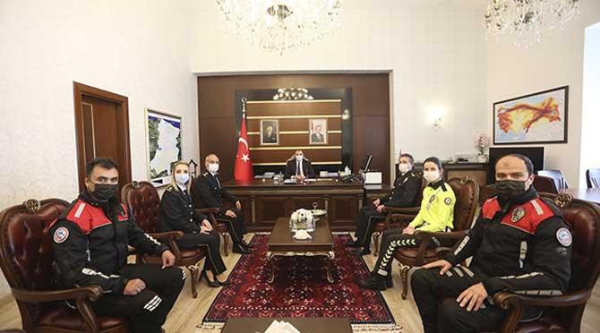 Vali Kaldırım'a 10 Nisan Polis Haftası Ziyareti