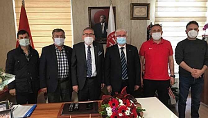 Demokrat Parti'den Yaşar Zımba'ya ziyaret