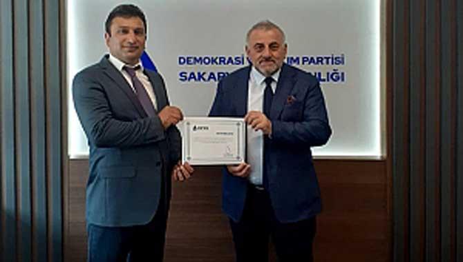 DEVA Partisi Karapürçek İlçe Başkanlığı ataması gerçekleştirildi