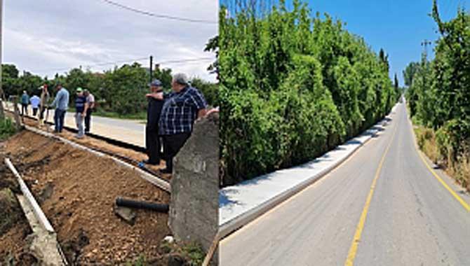Tepetarla Mahallesinde beton yaya yolu çalışmaları tamamlandı