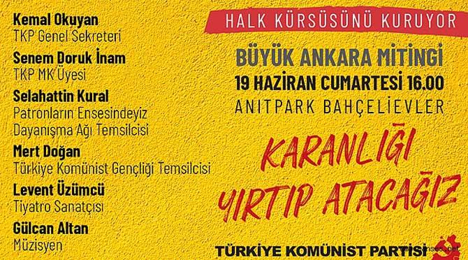 Yarın Ankara'da halkın kürsüsü kurulacak
