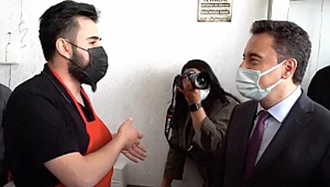 ESNAF, EKONOMİ YÖNETİMİNİ BABACAN'A ŞİKÂYET ETTİ 'Devleti yönetenler bu dükkânı bir hafta çeviremezler'