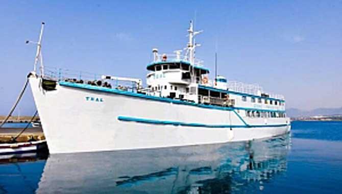 Girne Limanı'na gemi müze olarak kurulacak Denizcilik Tarihi Müzesi'nde temeller atıldı