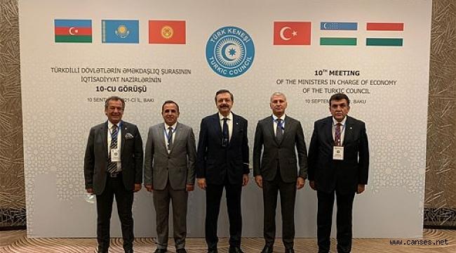 Başkan Altuğ, Türk Dünyası İş Forumu için Bakü'deydi