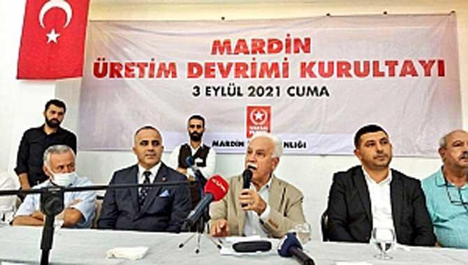 DOĞU PERİNÇEK MARDİN'DE KONUŞTU: İSTANBUL'A KANAL YAPACAĞIMIZA GAP'I BİTİRELİM