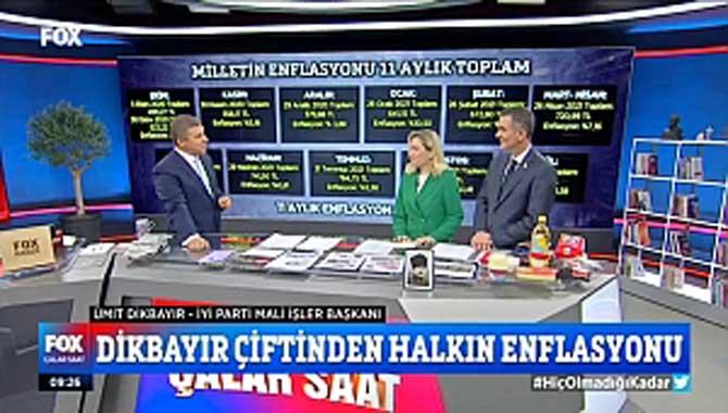 Dikbayır ve eşi Fox TV'de enflasyonu değerlendirdi