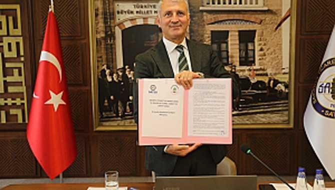 SATSO ile Filistin Qalqilya Ticaret Sanayi ve Tarım Odası arasında İyi Niyet Anlaşması İmzalandı