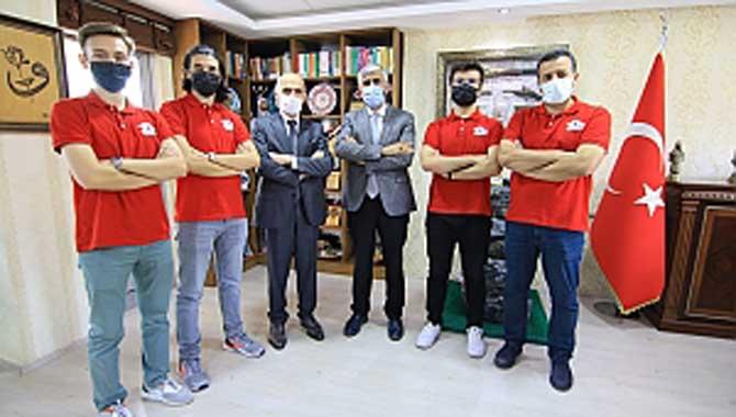 Teknofest Şampiyonlarını Özsoy Ağırladı