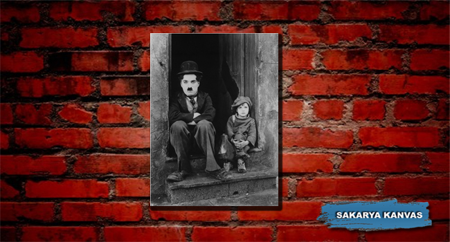 Charlie Chaplin Kanvas Tuval Mini Tablo
