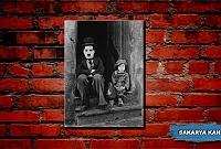 Charlie Chaplin Kanvas Tuval Mini Tablo
