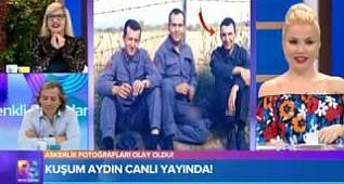CANLI YAYINDA Kuşum Aydın Askerlik Fotograflarını Yorumladi - Renkli Sayfalar Magazin