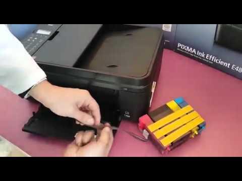 Canon e484 Tank sistemli yazıcı kurulumu nasıl yapılır