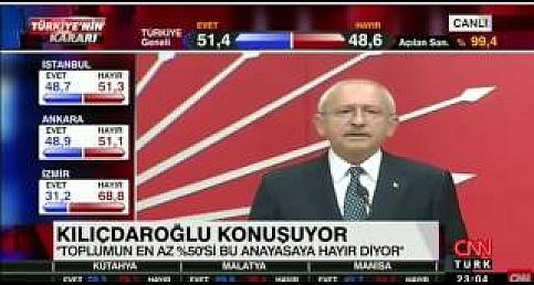 Kemal Kılıçdaroğlu  Referandum Sonrası Açıklamaları | 16 Nisan 2017